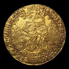James I rose ryal obverse